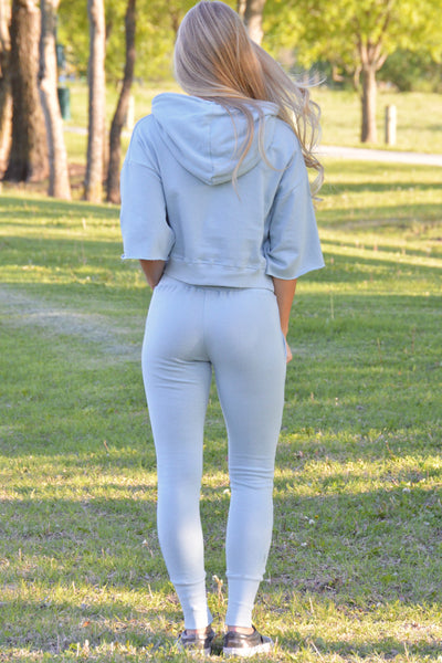 Good Choice Blue Lace Up Jogger Pants