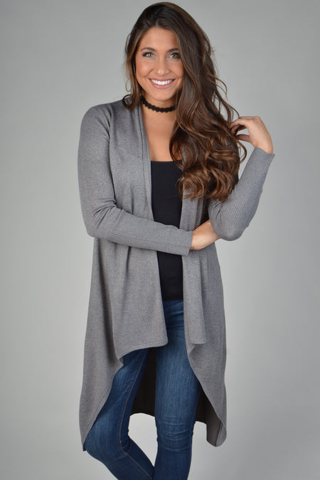 Stay Warm Taupe Cardigan