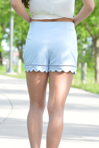 Making Headlines Blue Bell Scallop Shorts