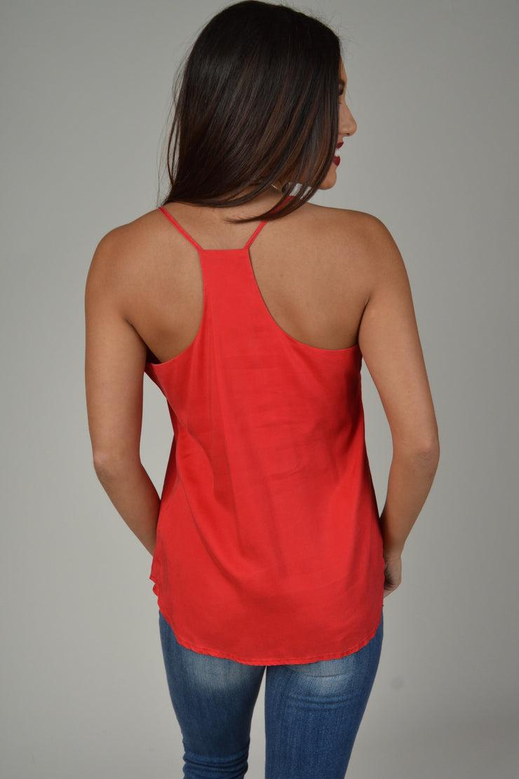 Velvet Heart Red Farrah Sleeveless Tank Top