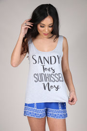 Sandy Toes Sunkissed Nose in Blue Gray