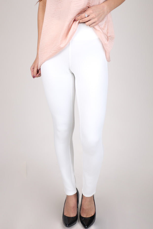 Mud Pie White Hunter Ponte Knit Pant
