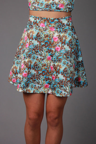 Floral Print Two Piece Bottoms