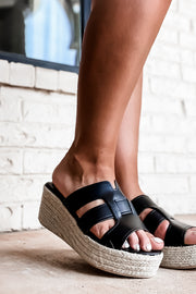 Honesty Black Platform Sandal
