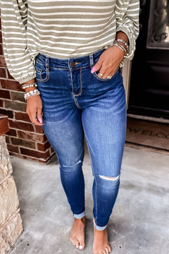 PRE ORDER Saving Grace Medium Wash Super Stretchy Denim Jeans