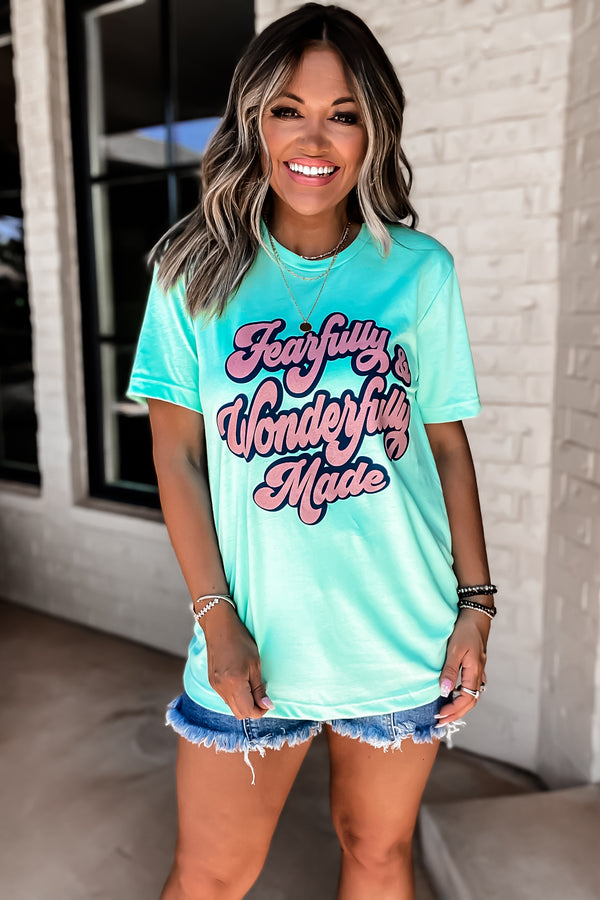 Fearfully & Wonderfully Made Mint Tee