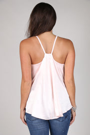 The Little Things Blush Jeweled Tank Top