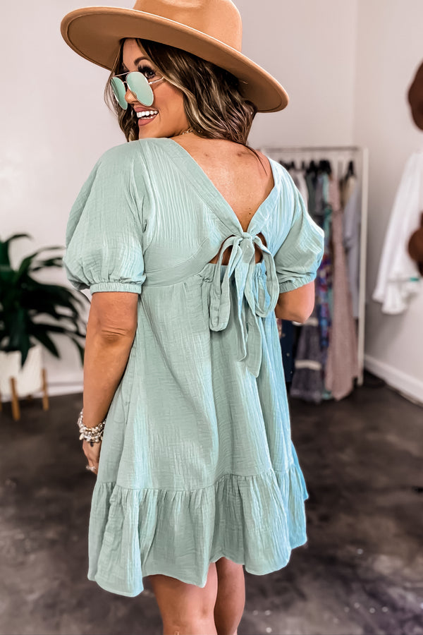 In Perfect Harmony Dusty Sage Dress