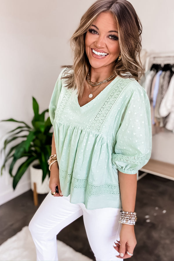 Commitment To Style Seafoam Top