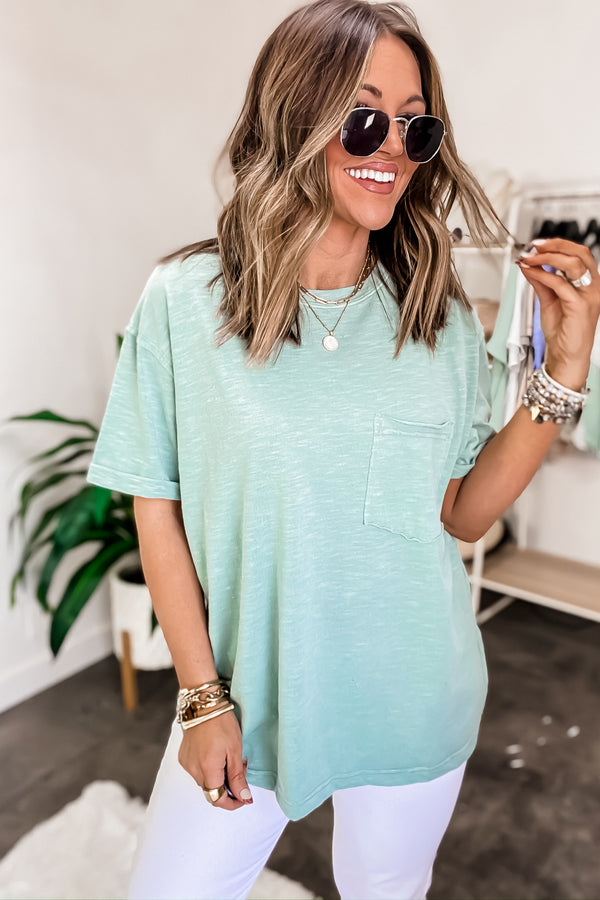 Main Attraction Sage Green Top