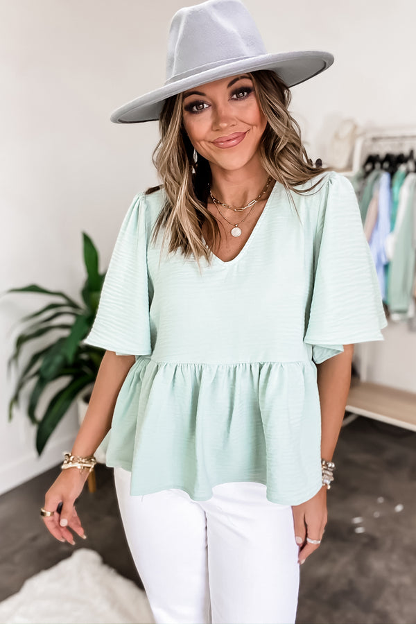 Come Together Dusty Sage Top