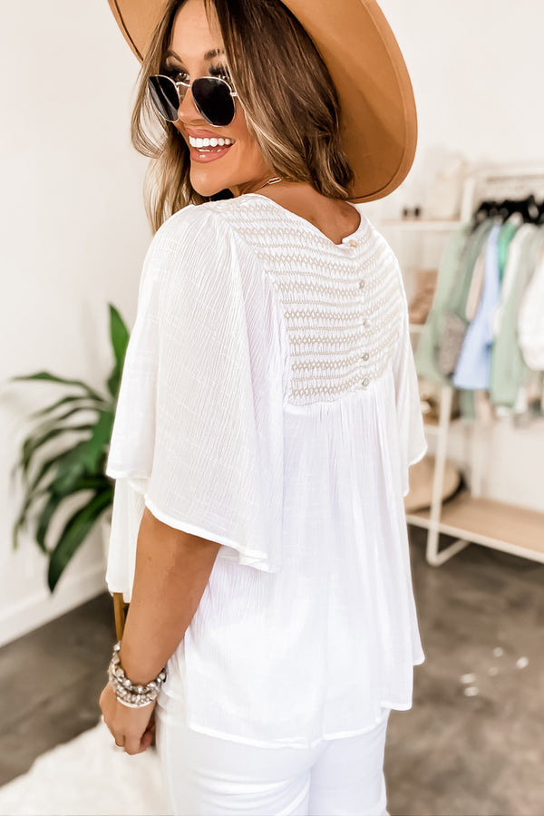 Endlessly Devoted White Lace Top