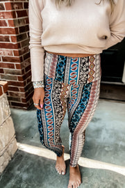 New Places To See Black Print Leggings