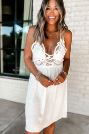 Praising You Ivory Lace Dress