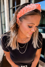 Parker Pearl Coral Knot Headband