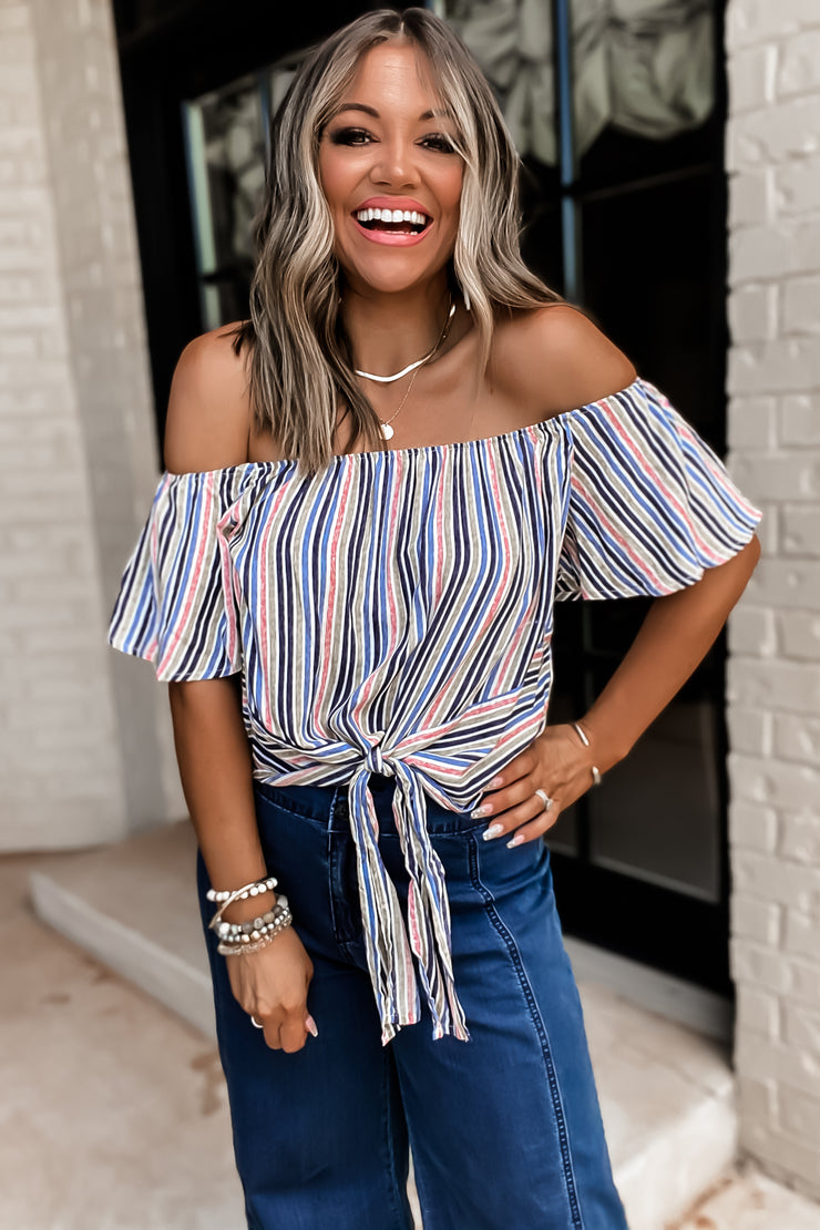 Sweet Soul Blue Striped Top