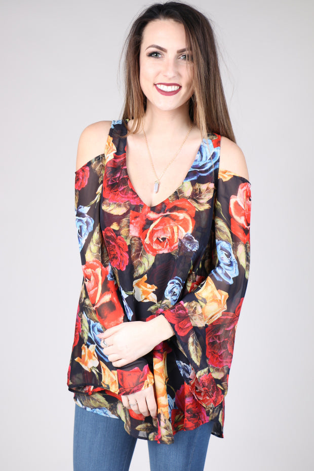 Show Me Your MuMu Shoulder Boo Tunic-Bloom Bloom