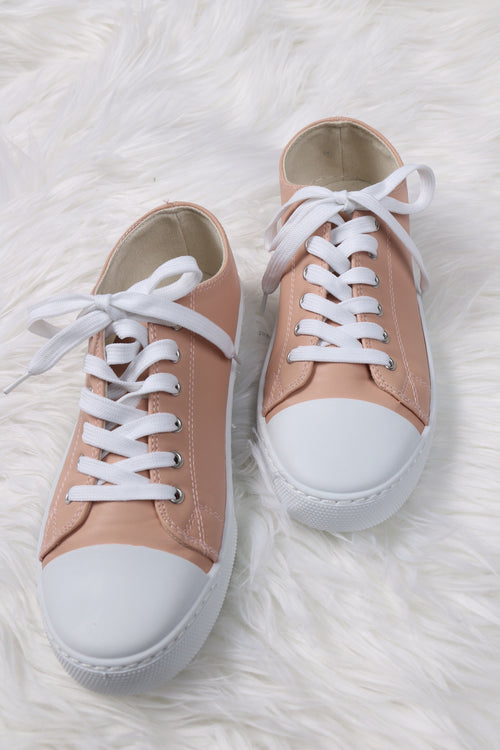 Narnia Blush Pleather Sneakers