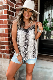 PRE ORDER It's Just Simple Grey Print Tank Top
