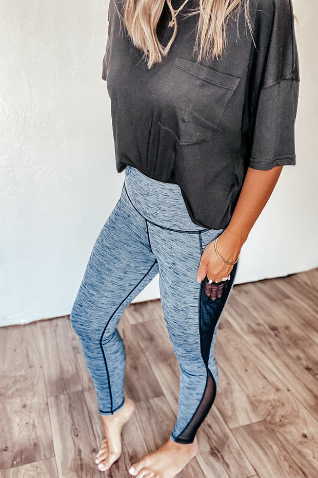 Never Too Late Gray Leggings