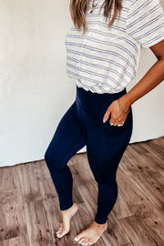 Casual Cutie Navy Leggings