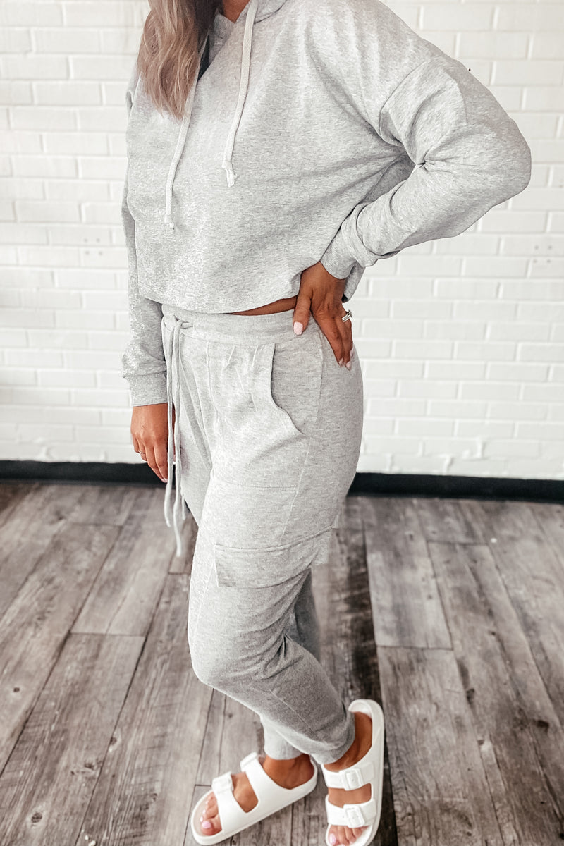 Share The Joy Faded Heather Gray Lounge Pant