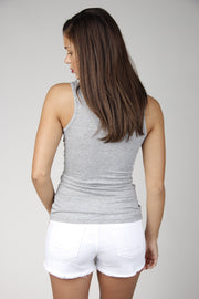 Heather Grey Solid Tank Top