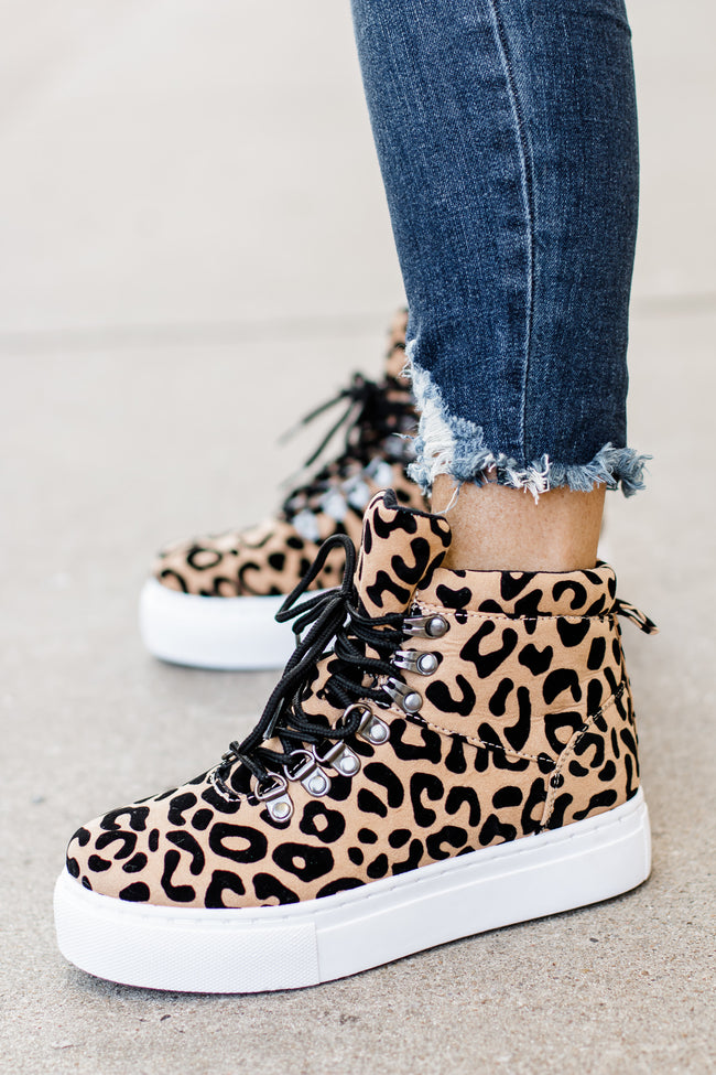 Royal Leopard Platform High Top Sneakers