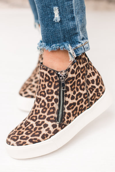 Taylor Cheetah Zip Up Sneaker