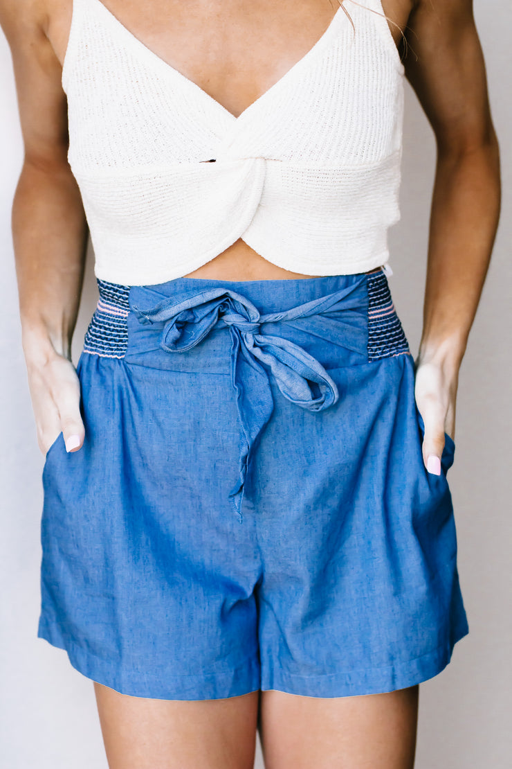 Jump Into Style Dark Blue Shorts