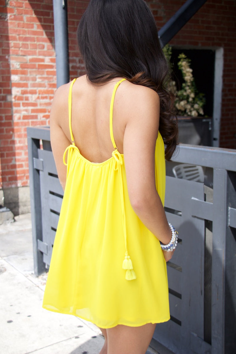 Show Me Your Mumu Lexington Mini Dress Daffodil Chiffon