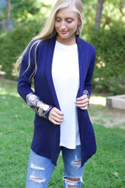 Sweet Destiny Navy Cardigan with Sequin Details