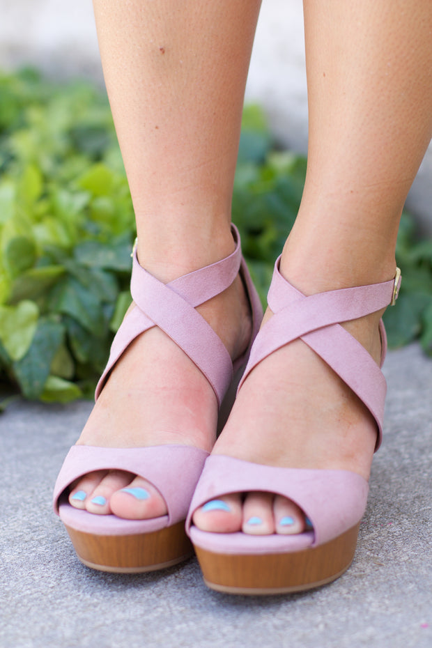 Cake Desert Rose Strappy Wedge Sandal
