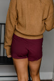 Wondering About You Burgundy Skirt