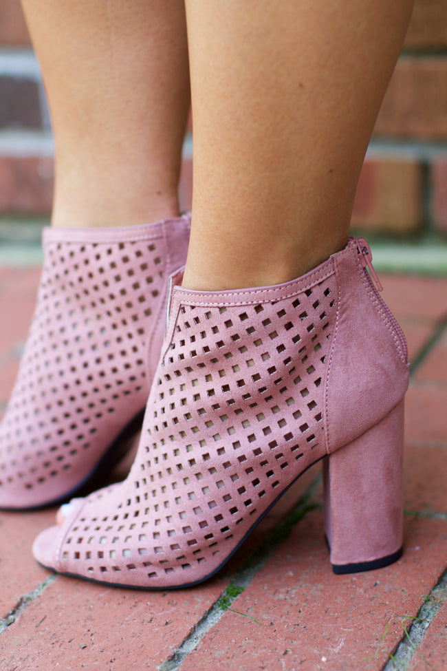 Chester Mauve Suede Cut Out Bootie
