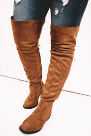 Zion Coffee Stretch Knee High Boots