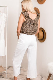 Sweet Digs Ivory Button Pocket Pants