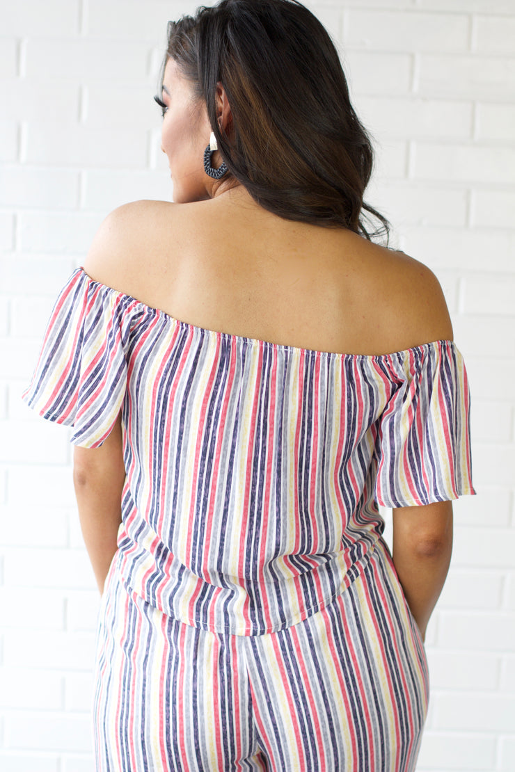Sweet Soul Pink Striped Top