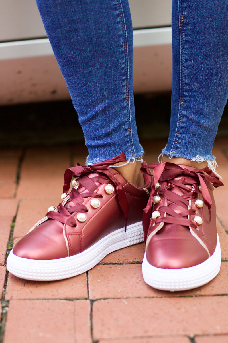 Waver Burgundy Lace Up Sneaker