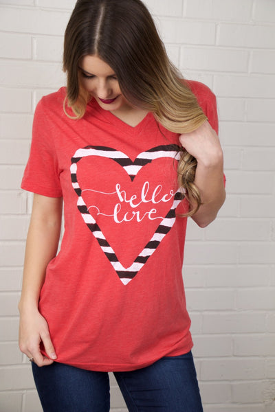 Calamity Jane Hello Love V-Neck Tee