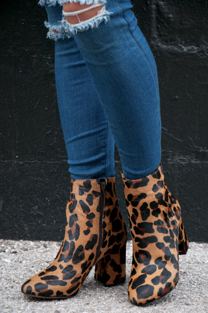 Matisse Grove Leopard Calf Hair Booties