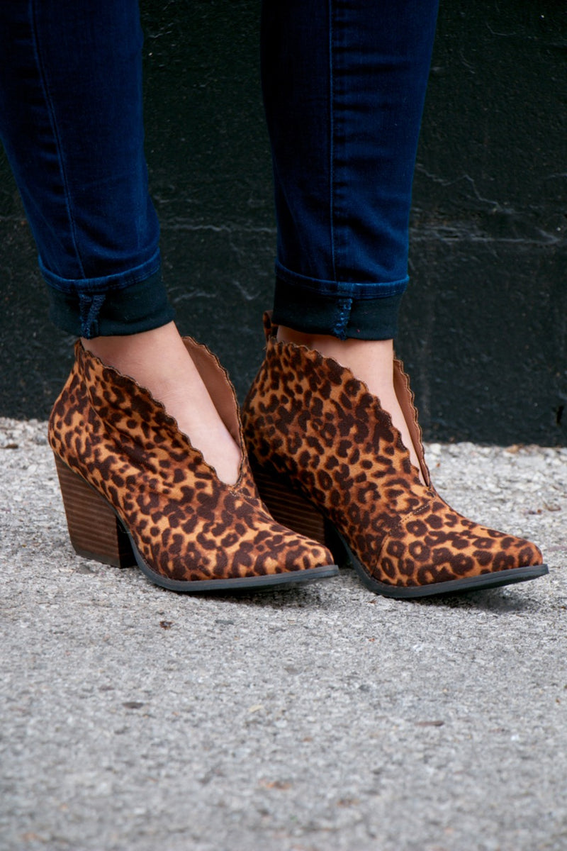 Coconuts By Matisse Adalyn Tan Leopard V-Cut Bootie