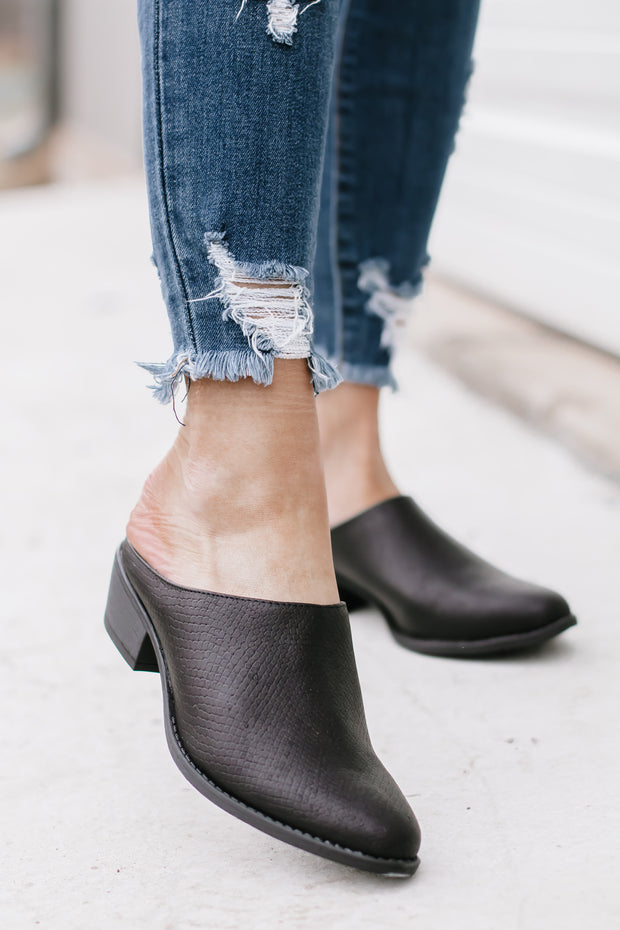 Sochi Black Mule Booties