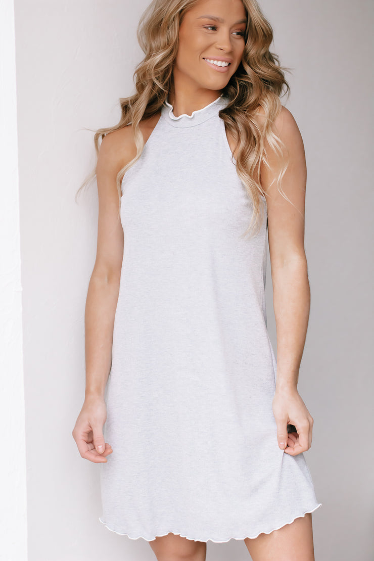 Into The Night Heather Grey Dress