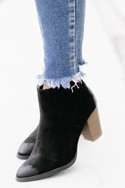 Tiber Black Oil Finished Booties