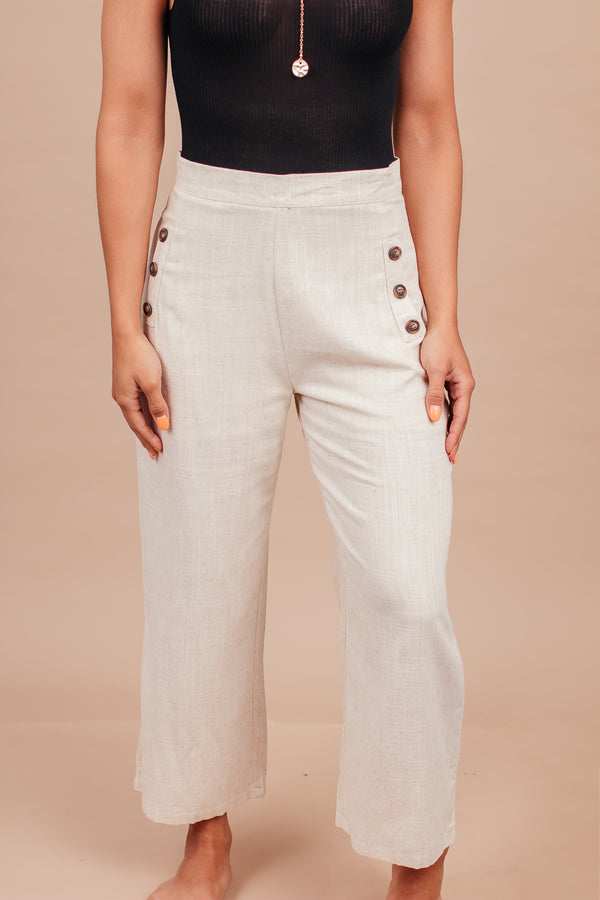 Sweet Digs Light Tan Button Pocket Pants