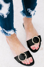 Bellini Slide Black Sandal