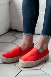 Raymond Blood Orange Plaform Sneaker