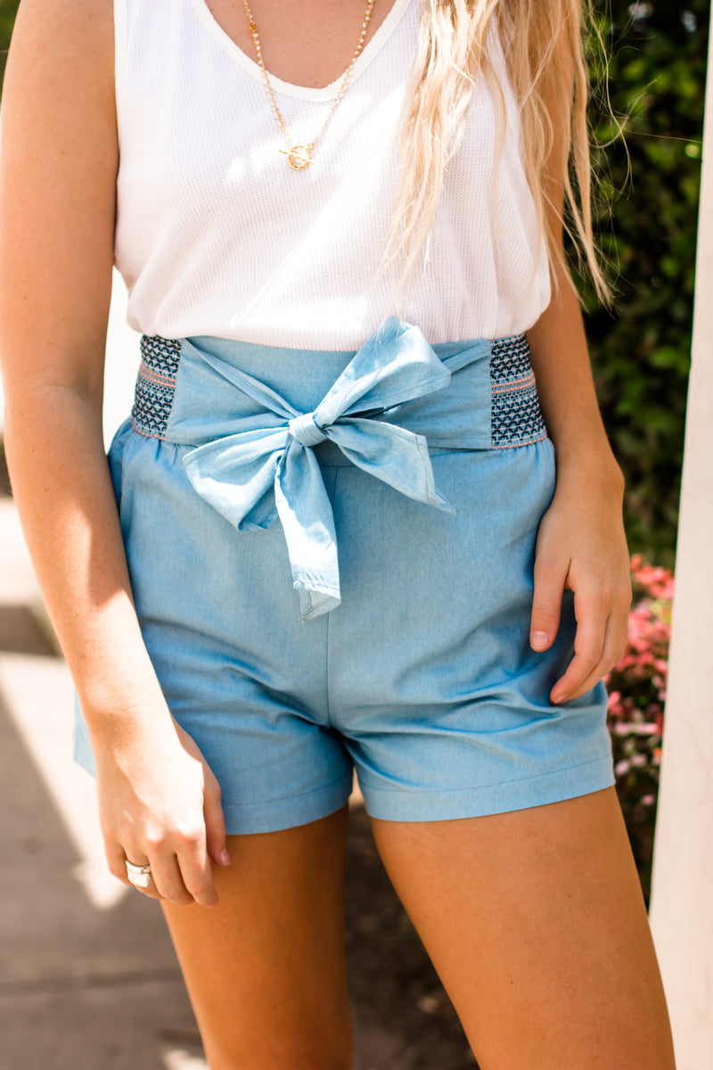 Jump Into Style Light Blue Shorts