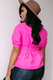 Sweeter Than You Pink Linen Top